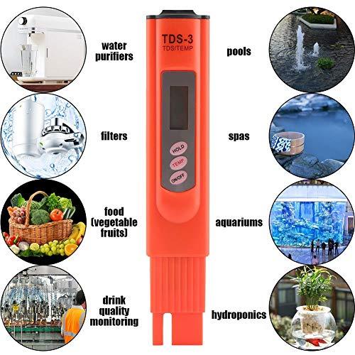 Waterkwaliteitstester, Digitale LCD TDS Waterkwaliteit Zuiverheidsmonitor Aquarium Zwembadmeter Tester