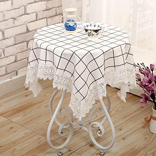 sans_marque Manteles, utilizados para mesas de interior y exterior, manteles - manteles de cena sólidos para restaurantes de bodas cafeterías 65* 65cm