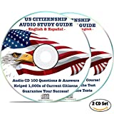 US Citizenship Study Guide 2019 Naturalization Test Audio CD (2 Disks): Book, Course | 100 Civics Questions & Answers in American English & Spanish Espaol USA Citizen Prep Practice EEUU