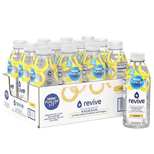 Nestle Pure Life+ revive with Magnesium (lemon flavor) 20 Fl. Oz. (12 Pack)