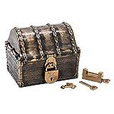Cofre del Tesoro Pirata para niños, Juguete Pirata Grande de Color Antiguo de...