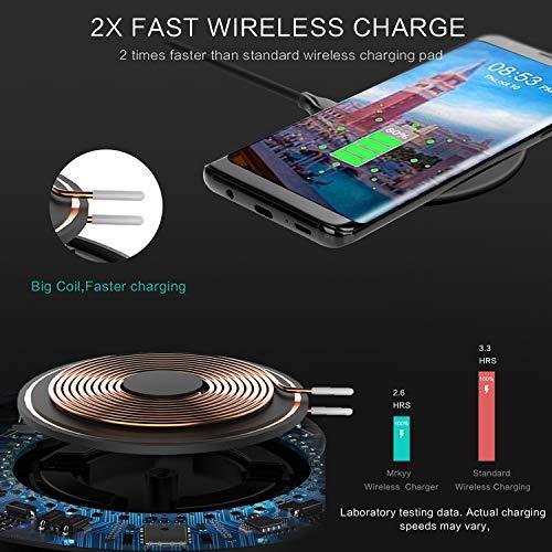 XLTOK Chargeur sans Fil, Qi Chargeur à Induction Compatible avec iPhone 11/11 Pro /11 Pro Max/XS Max/XR/XS/X /8, 10W pour Samsung Galaxy S20 /S10/10+ /S9 /S9 Plus/Note 8 /S8 /S8 Plus - Noir