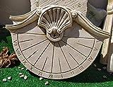 Reloj DE Sol EN Piedra Pared Exterior Rama Concha 3X39X28cm.