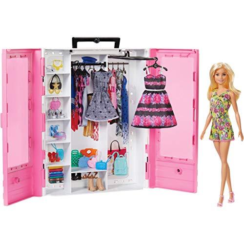 Barbie Fashionista Armario portable con muñeca incluida,