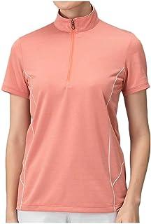[ミズノ] アウトドアウェア ドライベクター半袖ZIPシャツ 吸汗速乾 UVカット B2MA9261 レディース
