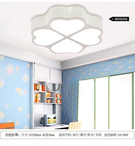 BRIGHTLLT Moderne minimaliste romantique chaleureuse chambres plafond led light heart-shaped Love 4 feuilles prix s'allume ; 500mm enfants pétales