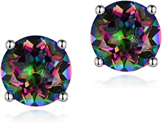 Hypoallergenic Rainbow Quartz Earrings Colourful Fashion Jewelry Gifts for Women Men Ladies
