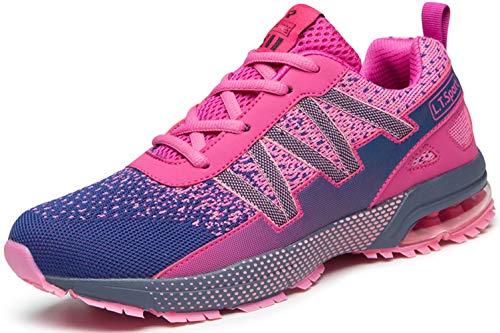Laufschuhe rosa Mit Dämpfung Damen Turnschuhe Leicht Sportschuhe Atmungsaktiv Running Outdoor für Frauen gr.40