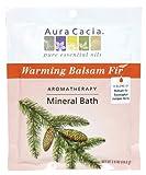 Aura Cacia Aromatherapy Mineral Bath, Warming Balsam Fir, 2.5 ounce...