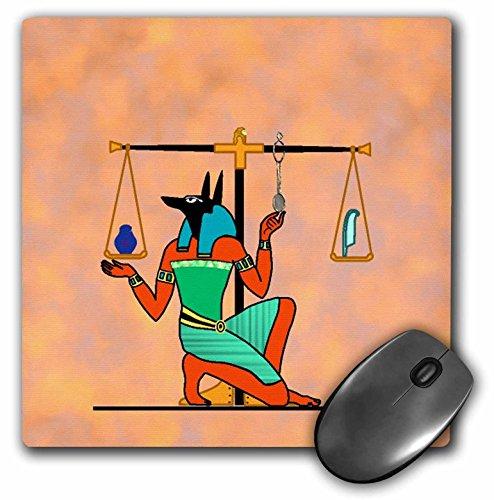 3drose Ägyptische Malerei und Waage–Maus Pad, 8von 20,3cm (MP 167101_ 1)