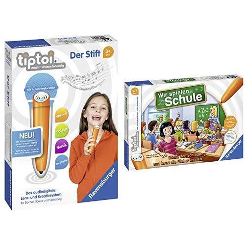 Ravensburger Tiptoi 00801 Der Stift &  tiptoi Wir spielen Schule - 00733 / Erlebe interaktiv einen kompletten Schultag