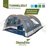 skandika Helsinki - Tente de Camping familiale Tunnel - 525 x 410 cm - 6 Personnes - 5000 mm (Gris)