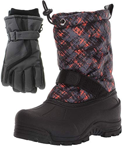Northside Frosty Winter Snow Boots for Boys with Matching Waterproof Gloves Size 1 M US Little product image