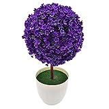 SISHUINIANHUA Falsa Bonsai para Jardín Hogar Mini Topiario Artificial Árbol de la Planta de la Bola Flores Buxus Plantas en Bote Interior Boda Evento Decoración,B