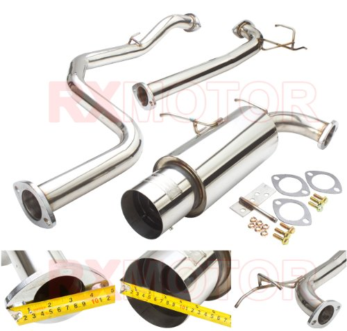 90 91 92 93 ACURA INTEGRA N1 STYLE CATBACK EXHAUST SYSTEM WITH 4.5 MUFFLER TIP
