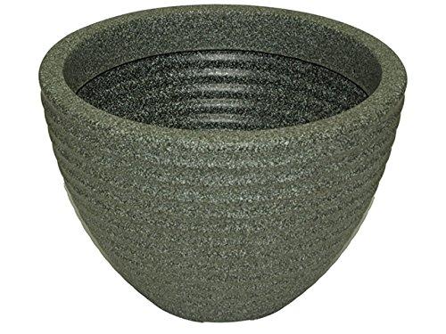 Stewart Vaso Basso a Forma di vasetto di Miele, plastica, Green, 37 cm