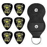 Halestorm ヘイルストーム Punk Skull ギターピック オシャレ ベース、カポタスト ギター、カポ アコースティックギター、ウクレレ、エレキギター用 ピック トライアングル 6枚セット プレゼント 0.46mm