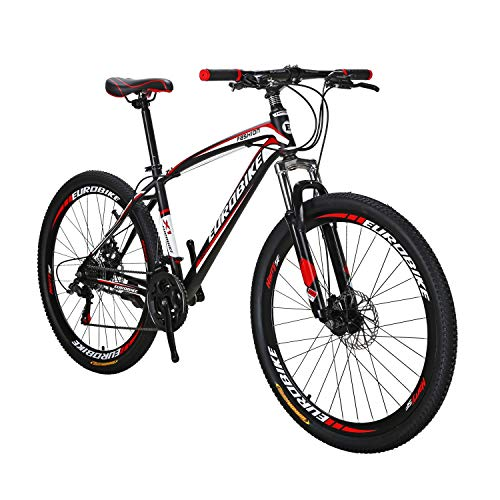 EUROBIKE BICYCE X1 27.5inch Mountain Bike 21 Speed Shift Left 3 Right 7 Frame Mountain Bicycle Red