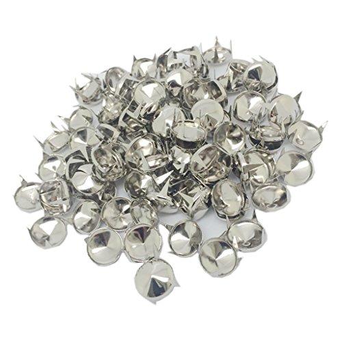 Sharplace 100x 12mm Silber Kegelnieten Nieten Punk Ziernieten Dekoration