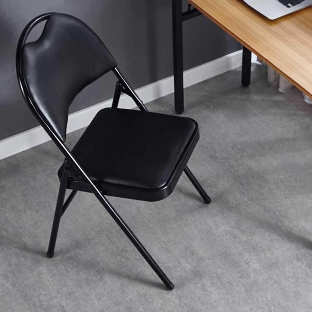 YCSD Chaise Pliante Rembourrée De Confort Commercial avec Trou De Poignée ,Cadre en Métal,pour Une Utilisation De Fête De Conférence Au Bureau à Domicile(Color:Noir) Noir