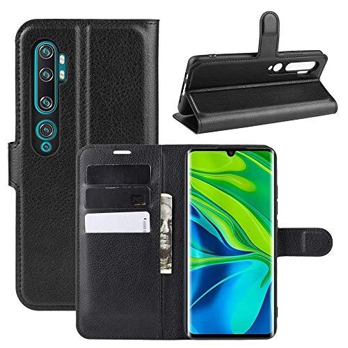 Capa Capinha Carteira 360 Para Xiaomi Mi Note 10 E Note 10 Pro Tela De 6.47Polegadas Case Couro Flip Wallet - Danet (Preto)