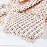 Leyue Toalla de algodón a Cuadros para Adultos Toalla de baño Faciales Toalla Deportiva 35x35cm, Color Crema (Color : Creamcolored)