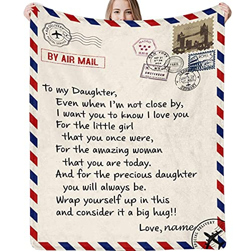 Blanket Love Letter Message to My Daughter from Dad and Mom Even When I'm Not Close by I Want You to Know I Love You Soft Warm Bed Blanket 50x60inch