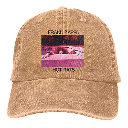 Mens & Women's Logo of Frank Zappa Hot Rats Hip Hop Adjustable Hat,Natural,One Size