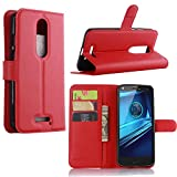 Guran® Housse en Cuir pour Motorola Moto X Force Smartphone Flip Cover Etui Debout Fonction et...