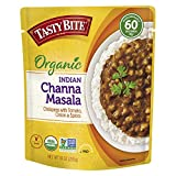 Tasty Bite Indian Entree Channa Masala 10 Ounce (Pack of 6), Fully Cooked Indian Entrée with Chickpeas Onions Tomatoes & Spices, Vegan, Gluten Free, Microwaveable, Ready to Eat