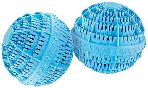 Rosenstein & Söhne Waschkugel: Keramik-Wäscheball mit 80 Mineralstoffen 2er-Set (Waschkugeln)