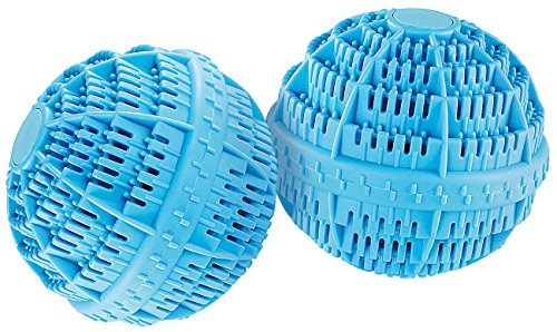 Rosenstein & Söhne Waschkugel: Keramik-Wäscheball mit 80 Mineralstoffen 2er-Set (Wäschekugel)