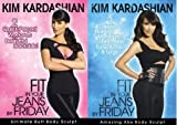 Set of 2 Kim Kardashian Fit in your jeans by Friday - Work Out DVDs - Ulitmate Butt - Amazing Abs