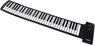 Decdeal 61 Key Electronic Piano Keyboard Silicon Flexible Roll Up Piano Sustain Function USB Port with Loud Speaker