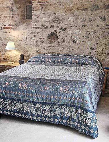 Bassetti Tagesdecke für Doppelbett, Granfoulard Fabriano grau