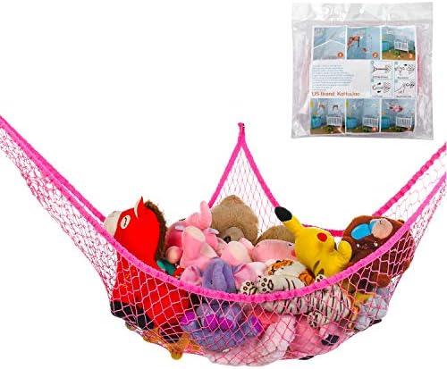 KoHuiJoo Jumbo Toy Hammock Stuffed Animals and Toy Storage Hammock Net 70 Wall Sling Corner product image
