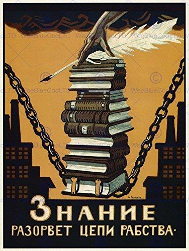 Political Propaganda conocimientos Romper Las Cadenas de la esclavitud Unión Soviética Póster 1864py por Wee Azul Coo Impresiones