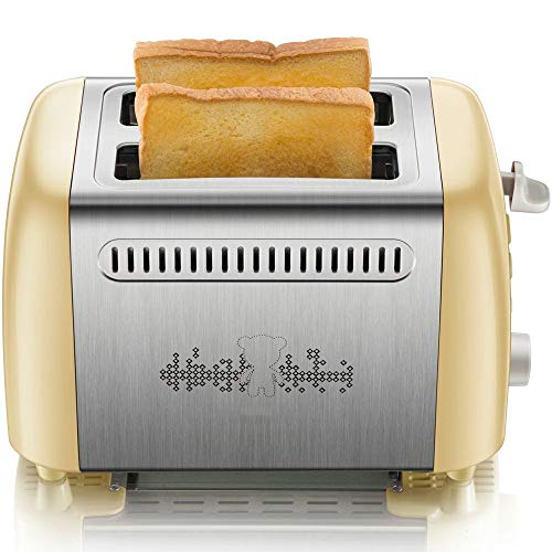 Amazing Deal Toasters Bread Shade Settings Removable Crumb Tray Compact Stainless Steel Toaster Toas...