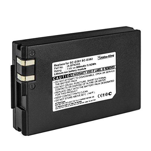 Akku-King Akku kompatibel mit Samsung IA-BP80WA, AD43-00189A - Li-Ion 800mAh - für SC-D381, SC-DX100, VP-D385, VP-DX105i, VP-DX200