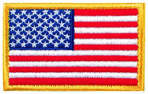 Tactical Patches of USA US American Flag, with Hook and Loop for Backpacks Caps Hats Jackets Pants, Military Army Uniform Emblems, Size 3x2 Inches