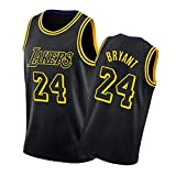 Los Ángeles Lakers Antes De 8# Después De 24# Kobe Bryant Camiseta De Baloncesto, Malla Bordada Black Mamba Jersey, S-2XL Kobe2-XL