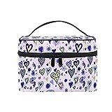 Bolsa de maquillaje Emoya para hombre, mujer, diseño de corazones, colorido, bolsa organizadora de maquillaje, para viajes, para hombres, mujeres y niñas