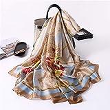 UKKD Bufanda Pañuelos De Mujer Verano Envuelta Bufanda De Seda Dulce Diseño De La Bufanda De La Mujer Playa De La Señora Pashimina Pañuelo De Acero,V49-2