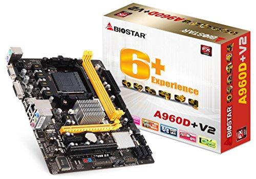 Biostar A960D + V2AMD 890Gx Socket AM3+ Micro ATX Mainboard–Mainboards (DIMM, SDRAM, Dual, AMD, FX, Phenom, II X2, Phenom II X3, Phenom II X4, Phenom II X6, Sempron, Sockel AM3+)