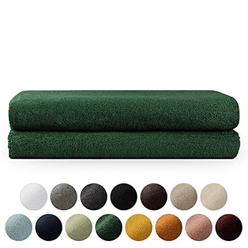 Blumtal Set de 2 Toallas de Baño (70x140cm) - Toallas Suaves y Absorebentes, 100% algodón, Certificado Oeko-Tex 100, Verde Oscuro