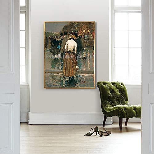 Baodanla Geen lijst met indrukwekkende decoratieve afbeelding die op het schilderij van de weg landschapsmessen gaat