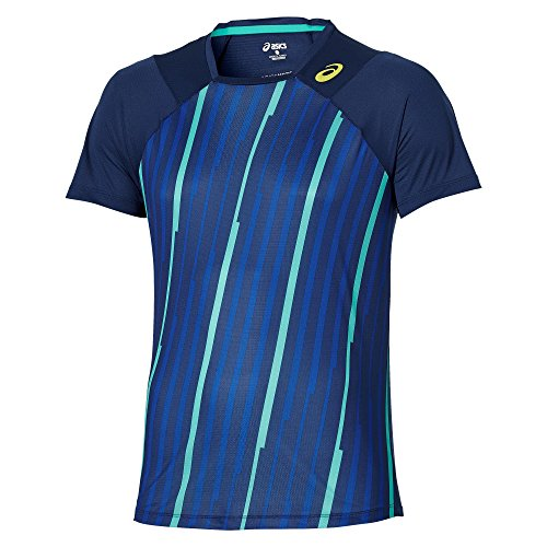 ASICS Abbigliamento Donna Athlete Short Sleeve Top, Unisex, Oberbekleidung Athlete Short Sleeve Top, Blau, XL