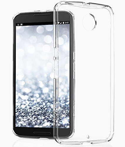 Nexus 6 Case - VENA [RETAIN] Slim Fit Hybrid Case with Shockproof Bumper Clear Back Cover for Google Nexus 6 (Clear)