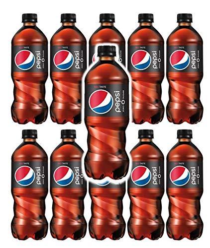 Pepsi Zero 20 oz Soda Bottles (Pack of 10, Total of 200 FL OZ)