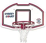 Sport-Thieme Basketballanlage zur Wandmontage | Set aus Basketballkorb, Rückwand, Netz zur Wandbefestigung | Indoor/Outdoor | Stahlkorb, Kunststoff-Brett, Nylon-Netz | 112x73 cm/ø 45 cm